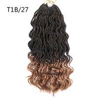14inch 세네갈 트위스트 크로 셰 뜨개질 머리 끈 꼰 80g / pc 합성 물결 모양의 크로 셰 뜨개질 머리 곱슬 꼰 확장