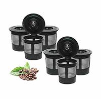 مل 3pcs جديد / الكثير قابلة لإعادة الاستخدام الكؤوس لكيوريج 2.0 1.0 برور صالح العالمي لسهولة استخدام إعادة الملء واحدة فنجان القهوة فلاتر صديق للبيئة