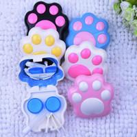 Nuovo arrivato Cartoon Lens Case Fashion Paster Contact Suit Piccolo fresco Invisibile US-Pupil Occhiali Box Accessori per occhiali Colore Casuale