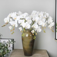 Artificial Silk White Orchid Flowers High Quality Butterfly ...