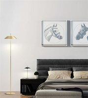 Modern çok renkli metal led zemin lambası çan ile ev oturma odası gölge okuma aydınlatma ayakta FA021