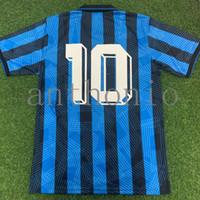 Top 1991/92 Atalantas Retro Futebol Jerseys Inzaghi CanigGa Paulino Camisetas de Futbol Camisa Uniforme Kits Pé Jersey 1996/97 Tailândia Qualidade Casa Futebol Camisas