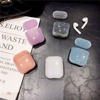 Scintillio Bling diamante Decor cuffie copertura per AirPods auricolare Bluetooth caso Protect per Apple Airpods 2 Bag Shell Accessori