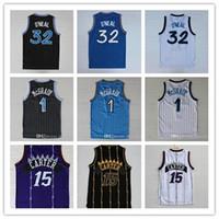 Yüksek kaliteli 32 O'Neal Jersey Penny 15 Carter Formalar Tracy 1 McGrady Formalar Dikişli Üniversite Gömlek Mens Vince 1 Harbour Gömlek Basketbol