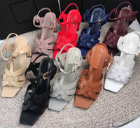 2019 Newest fashion women leather sandals woman chunky heels...