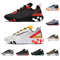 nike air reagire element 87 55 scarpe da corsa uomo donna Antracite Light Bone triple nero bianco ROSSO ORBIT moda uomo sneakers sportive sneakers sportive