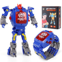 Boy Girl Robot Boy Girl Watch Child Creative Gift Deformatio...