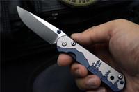 Chris Reeve Petite Sebenza 21 Couteau pliant D2 LAME TC4 TC4 Poignée de titane Camping Chasse Survie en plein air Couteaux tactiques Couteaux EDC Outils