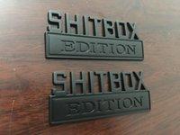 SHITBOX EDITION شعار شارات يناسب شاحنة كروم أسود لامع