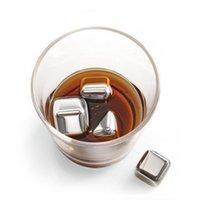 4PCS Neueste Whisky Edelstahl Steine Whisky Ice Kühler Eiswürfel für Wein Whiskey Bier Bar Haushalt Hochzeit Geschenk Preferred