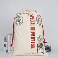대형 캔버스 메리 크리스마스 산타 자루 크리스마스 스타킹 순록 선물 보관 가방 큰 크리스마스 가방 새해 제품