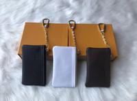 França Estilo Designer Moeda Moeda Homens Mulheres Senhora De Couro Moeda Bolsa Chave Carteira Mini Carteira Número de Serial Caixa De Poeira
