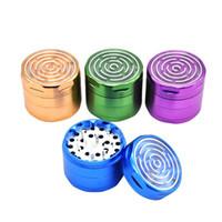 Aluminium rauchende Kräuterschleifmaschinen mit Labyrinth-Spiel Fenster 63mm 4 Stück CNC-Diamantzähne Metall-Tabak-Pollen-Gewürz-Crucher-Labyrinth-Spiel
