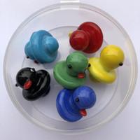 UFO Carb Cap Solide Verre Coloré Jaune Canard Jaune dôme pour 4mm Thermique P Quartz Banger Nails pipe à eau bongs