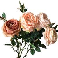 """um Europeam Única haste longa de seda Angel Rose 33.46"""" Simulação Melaleuca Rosas para Casamento Casa decorativa Artificial Flowers"""