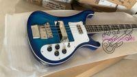 Nuevo estilo personalizado 4003 bajo eléctrico azul 4 cuerdas bajo eléctrico Envío gratis A123