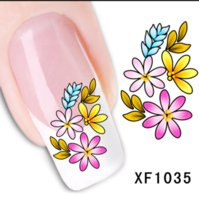 1sheets Fashion Hot Polish Designs Flower with Butterfly Wat...