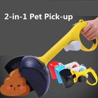 2 atık torbası tutucusu açık temizleme atıkları ile 1 evcil köpek Pooper Scooper kaka kürek kürek uygun atık pet malzemeleri almak