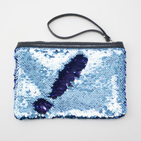Women Mermaid Sequins Cosmetic Bag Large Capacity Clutch Han...