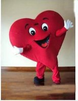 Costume della mascotte del cuore di fantasia del costume della mascotte del cuore di dimensione rossa della vendita all'ingrosso della fabbrica di sconto 2019 trasporto libero