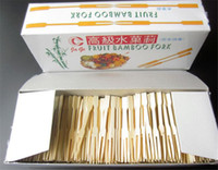 5000 Pieces Disposable Natural Bamboo Fruit Fork Stick Picks...