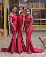 2020 Red New Nigerian African Bridesmaid Dresses for Black G...