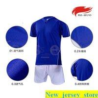 Top Kundenspezifische Fußballjerseys Freies Verschiffen-billig Großhandelsdiskont irgendein Name Jede Zahl anpassen Fußball Shirt Größe S-XL 458