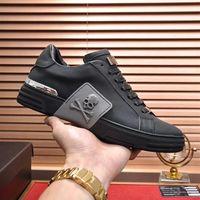 qualité Hommes Chaussures en cuir remise en forme Casual Hommes Styliste noir Colorimétrie confortables en cuir Chaussures plates Chaussures Casual Daily Jogg
