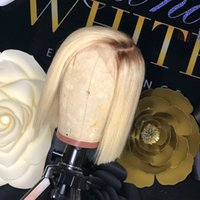 1B 613 Blonde Human Hair Wigs With Baby Hair Peruvian Virgin...
