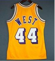 Özel Erkekler Gençlik kadınlar Vintage Jerry West Mitchell Ness 71 72 Koleji basketbol Jersey Boyut veya özel herhangi bir ad veya numara formayı-6XL S