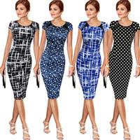 Elegante Oficina partido de las mujeres de negocios Trabajo vaina túnica del mini vestido del lápiz