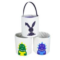 Pasqua Benne fumetto stampato Easter Bunny Borse Cesti fortunato Egg Bambino Sacchetti Di Caramelle Holiday Fashion bambini Borse borsa giocattolo bagagli WY520CQ