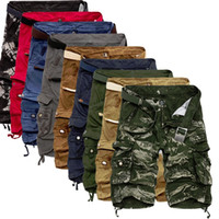 Pantaloncini cargo larghi estivi Moda uomo vendita calda Pantaloncini casual larghi in cotone camouflage Plus Size 29-40 No Belt