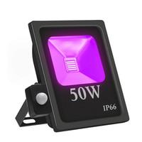 Luz de inundación de luz negra UV ultravioleta UV Luz Led Negro, al aire libre IP66 impermeable de la luz de la etapa del partido de Blacklight, Pintura de cuerpo