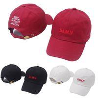 MALDITO la moda del bordado. Casual gorra de béisbol unisex del Snapback del casquillo de la bola al aire libre Viajes Pares de la playa Sombrero de sol Deporte de sombrero LJJT667-6