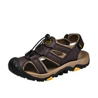Men' s Elastic Band Sandals Breathable Hollow Buckle Vel...