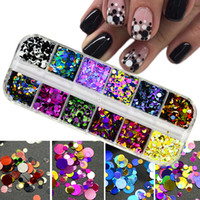 Ultrathin Sequins Nail Art Glitter Mini Paillette Colorful Round 3d Nail Decorations Mixed Size Manicure Accessories