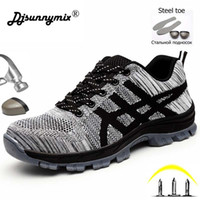 Breathable Work Shoes Men Indestructible Steel Toe Boots Saf...