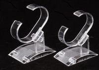 Plastica trasparente dell'anello del braccialetto del basamento della vigilanza Supporto della vetrina per i monili di visualizzazione 10pcs / lot DS10 spedizione gratuita