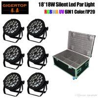 6in1 route encaissage 18x18W RBGAW Violet 6 Couleur silencieuse scène Led Par Cans 4 Ecran LCD Bouton Pas de support bruit Pince suspendue