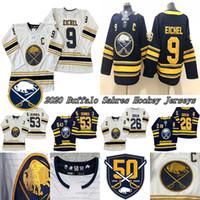 Buffalo Sabers Jersey 50. Golden 9 Jack Eichel (C) 26 Rasmus Dahlin 53 Jeff Skinner Hokey Formaları