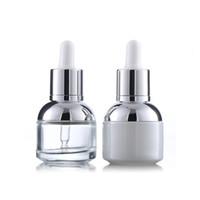 30 мл стеклянной бутылки сыворотки жемчуга белый прозрачный косметический эфирным маслом упаковки капельницы бутылки с пластиковой пробкой