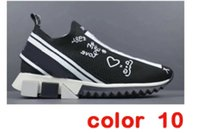 Dolce Gabbana casual shoes New Designer-Schuhe hococal Sneaker Männer Fabric Stretch Jersey Slip-on Sneaker Lady Zwei-Ton-Gummi Micro Sole Breathable Freizeitschuhe
