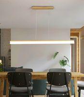 Longo candelabro lâmpadas LED restaurante moderno estúdio minimalista criativo bar da sala de aula escritório retangular luzes sala de estar