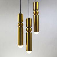 1 قطع الاسكندنافية الحديثة أضواء قلادة مطلي الذهب والفضة الحديد الإبداعية شنقا مصباح الطعام غرفة المعيشة شرفة ضوء الثابت