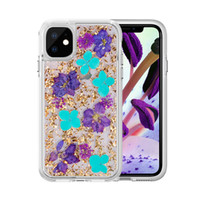 Glitter Real Flower Case For iPhone 11 Pro Max X XR Xs Max 7...