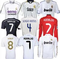 Retro 10 11 12 12 12 Real Madrid calcio calcio Jersey Guti Ramos McManaman 13 14 15 Ronaldo Zidane Beckham 06 07 Raul Robinho 1999 00 Carlos You