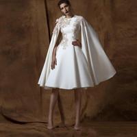 2019 длиной до колена A Line Коктейльные платья с круглым вырезом с длинным рукавом Аппликации знаменитости платье на заказ короткие платья выпускного вечера