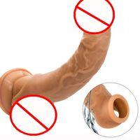 Silicona Bdsm Sm juguetes sexuales Ampliación del pene Capa Aumento del pene Mangas de extensión para adultos Productos íntimos Producto de sexo reutilizable
