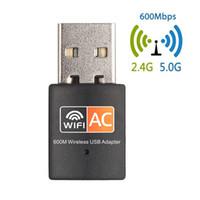 Двойной адаптер 600 Мбит / с USB диапазон WiFi 2.4 Г / 5 ГГц RTL8811CU беспроводной сетевой карты мини-600м локальной сети и Wi-Fi адаптеров стандарта 802.11 ac, приемник с Ethernet